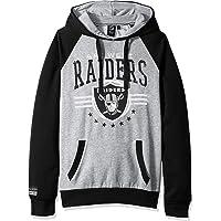 Icer Brands NFL Oakland Raiders 男士羊毛连帽套头运动衫大学,M 码,黑色