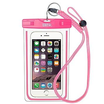 e466fea947b EOTW Funda Impermeable IPX8 Universal para deportes acuaticos para Iphone 6/ 6S +, Samsung S6/Edge/S5/S4 hasta 6 pulgadas.: Amazon.es: Electrónica