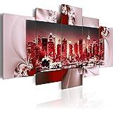 murando Impression sur toile 200x100 cm - Grand format! - 5 pieces - Image sur toile - Images - Photo - Tableau - motif moderne - Décoration - tendu sur chassis - New York Paysages urbains 051449 200x100 cm