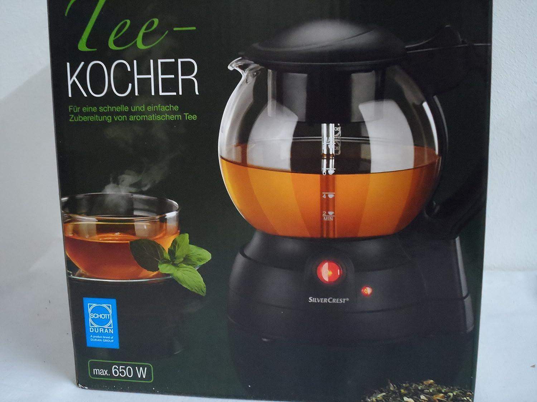 f/ür bis zu 8 Tassen Tee SilverCrest Elektrischer Teekocher max 650 Watt