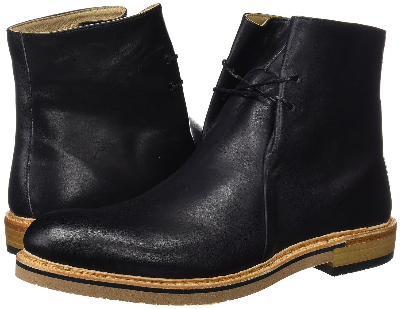 Neosens S095 Restored Skin Aris, Zapatos de Cordones Oxford para Hombre, Negro (Ebony), 41 EU