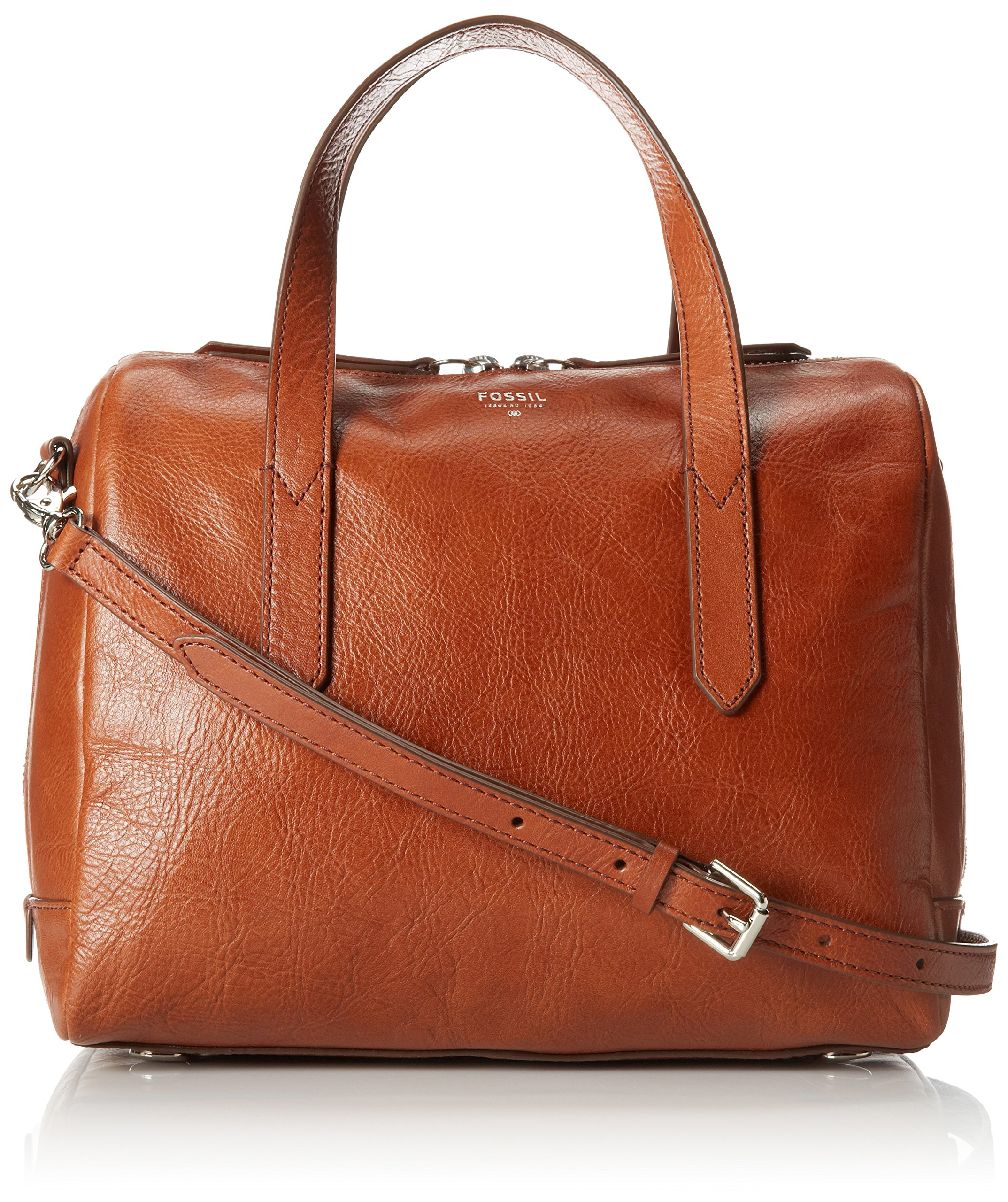 Fossil Sydney Satchel, Brown, One Size