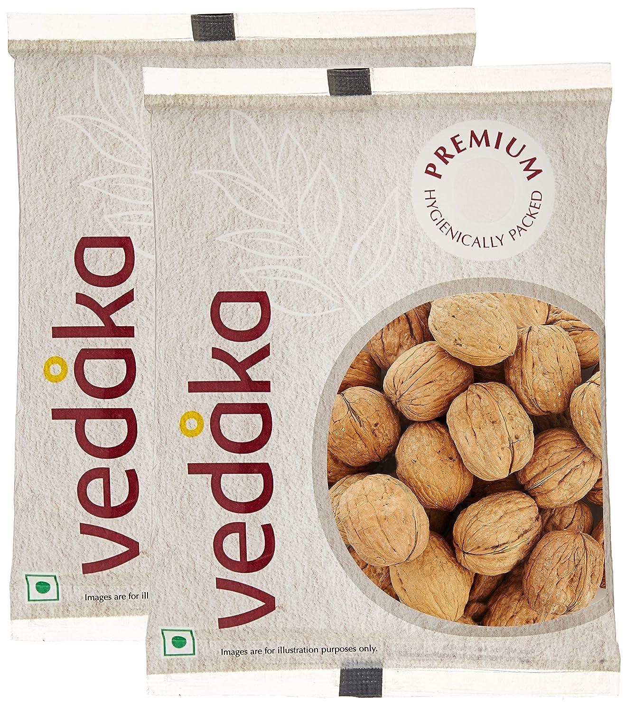Vedaka Premium Inshell Walnuts, 500g (Pack of 2)