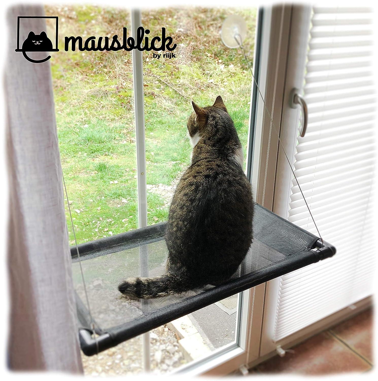 riijk Hamaca para ventana para gatos de hasta 23 kg, espacio extra estable para ventanas, para gatos