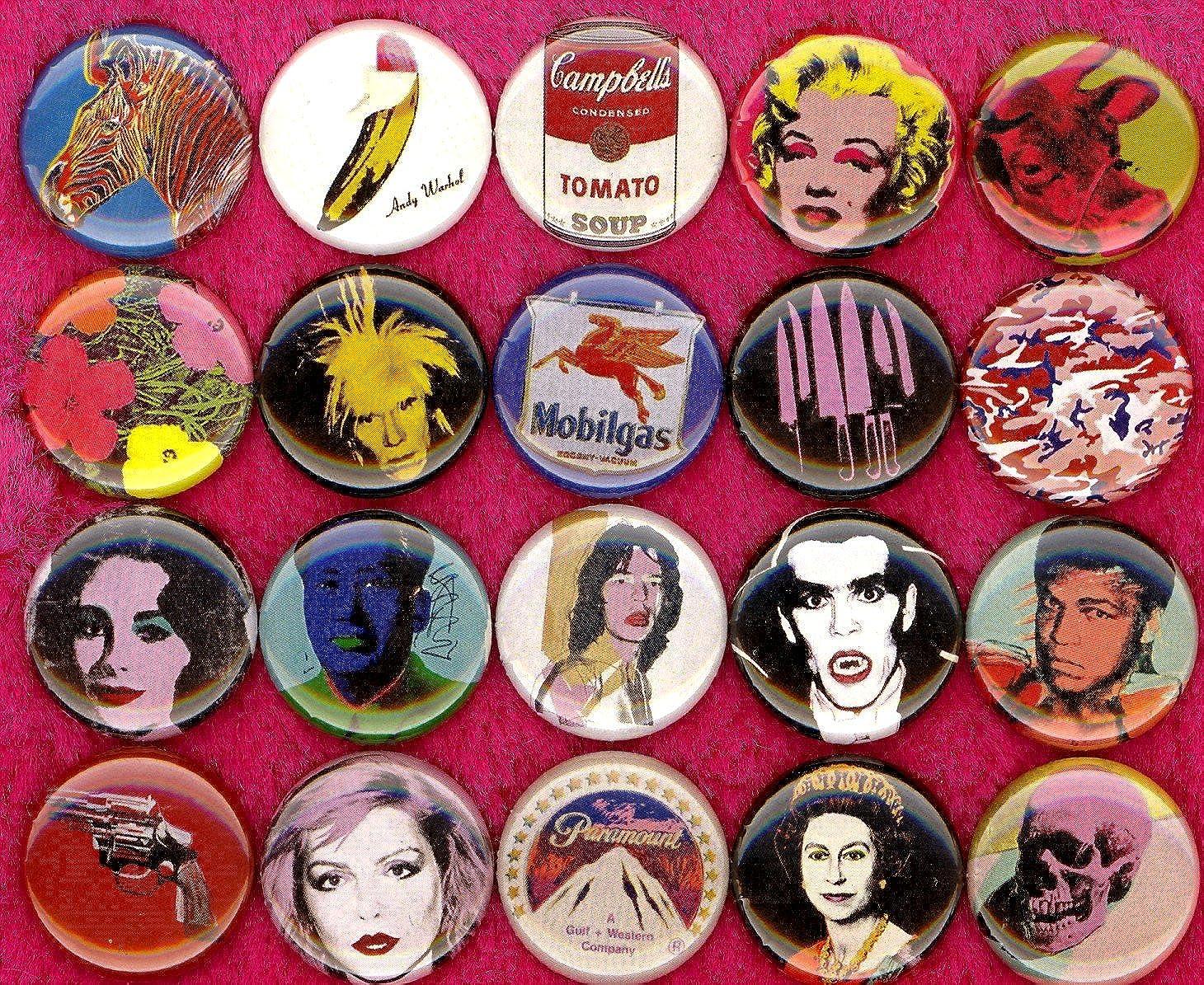 "25mm//1/"" Fun Gift Andy Warhol Prince Pinback Button Badge Novelty"