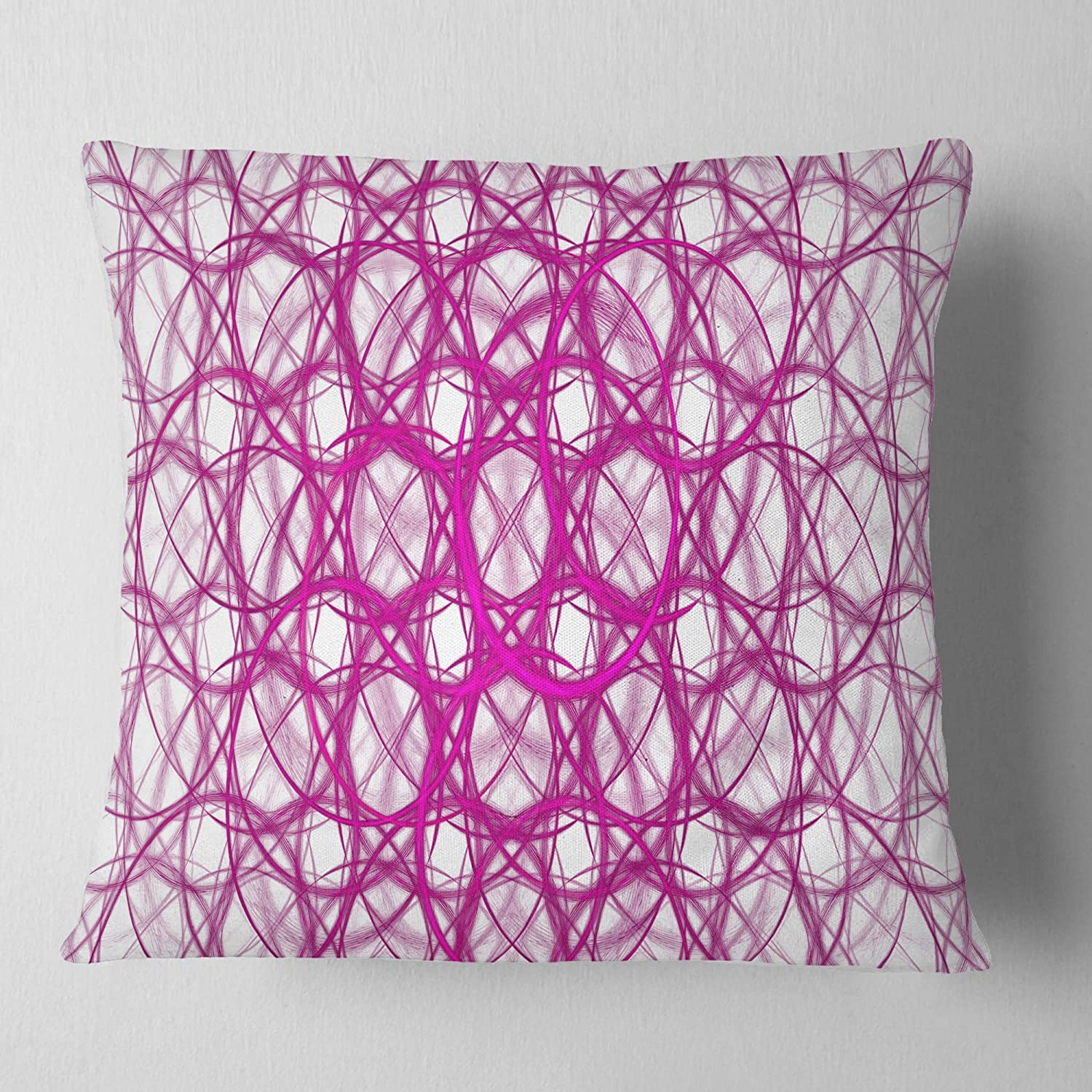 Designart CU16357-16-16 Pink Unusual Metal Grill Abstract Cushion Cover for Living Room Sofa Throw Pillow 16 in Insert Printed On Both Side x 16 in in