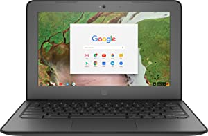 "HP 11.6"" Chromebook 11 G6 EE Touchscreen LCD Chromebook Intel Celeron N3350 Dual-core 1.1GHz 4GB LPDDR4 16GB Flash Memory Chrome OS Model 3PD93UT#ABA (Renewed)"
