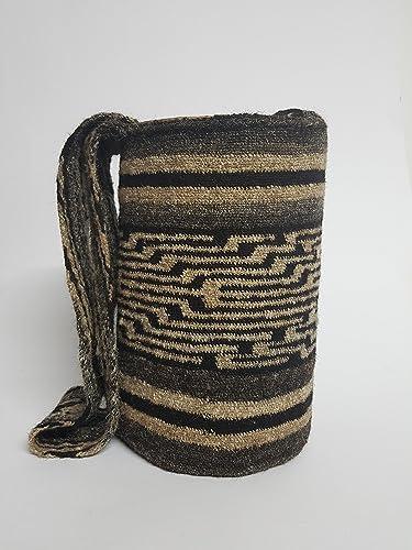 Amazon.com: Genuine Native Colombian artisan Arhuaco handbag - Colombian mochila - Handmade and woven from sheep wool by women 405: Handmade