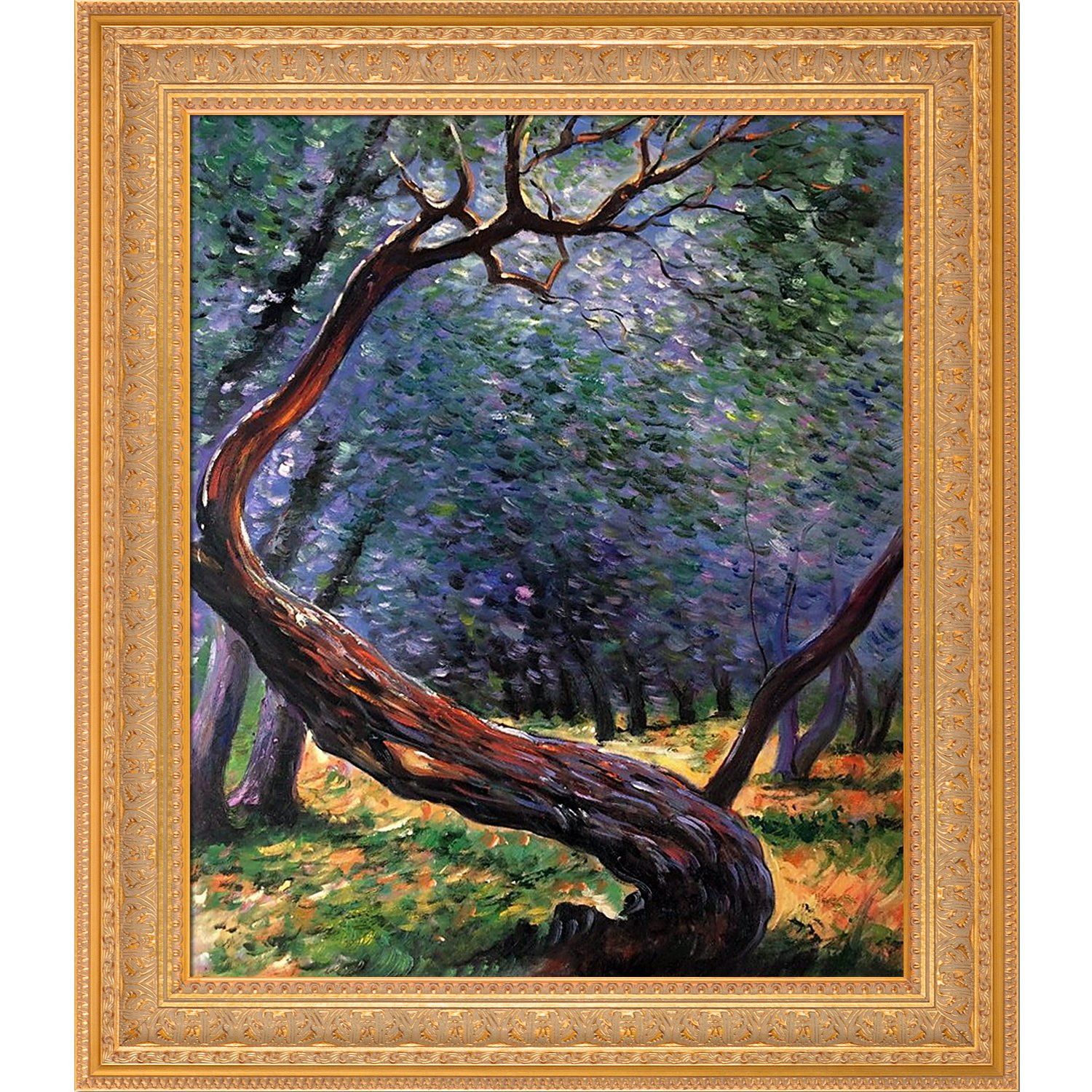 overstockArt Study by Claude Monet Framed Hand Painted Oil on Canvas MON4251-FR-820920X24