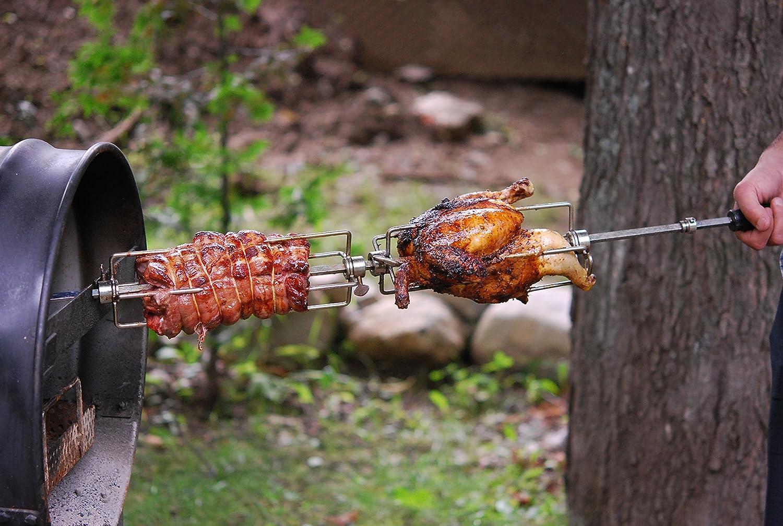 amazon com the rotisserie barrel charcoal chicken rotisserie