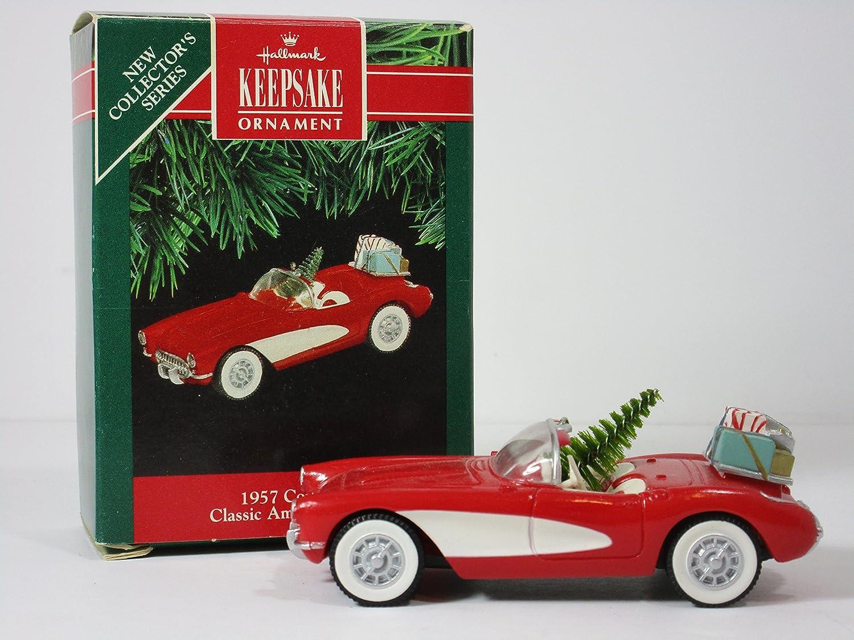 1957 Chevrolet Corvette Wood Ornament Engraved