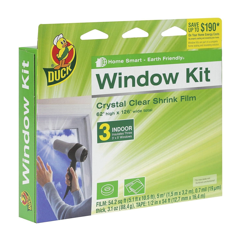 Duck Brand 1162919 Indoor 3-Window Shrink Film Insulator Kit, 62-By-126-Inch 281066