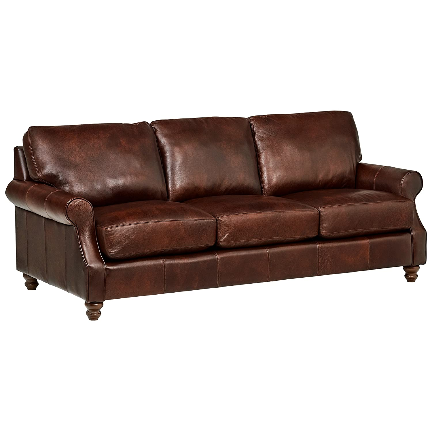 Stone & Beam Charles Classic Oversized Leather Sofa
