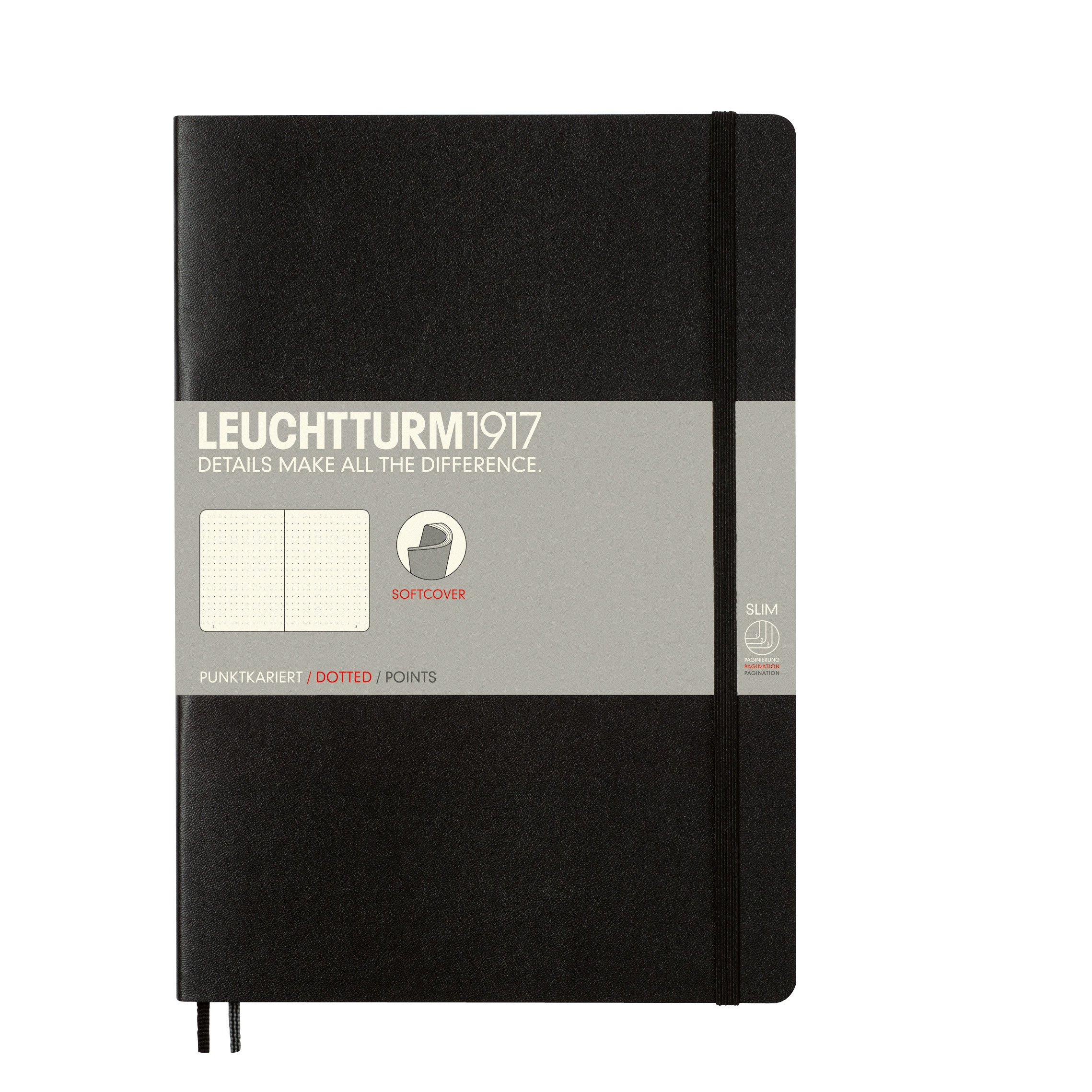 Leuchtturm Softcover Composition B5 Dotted Notebook [Black]