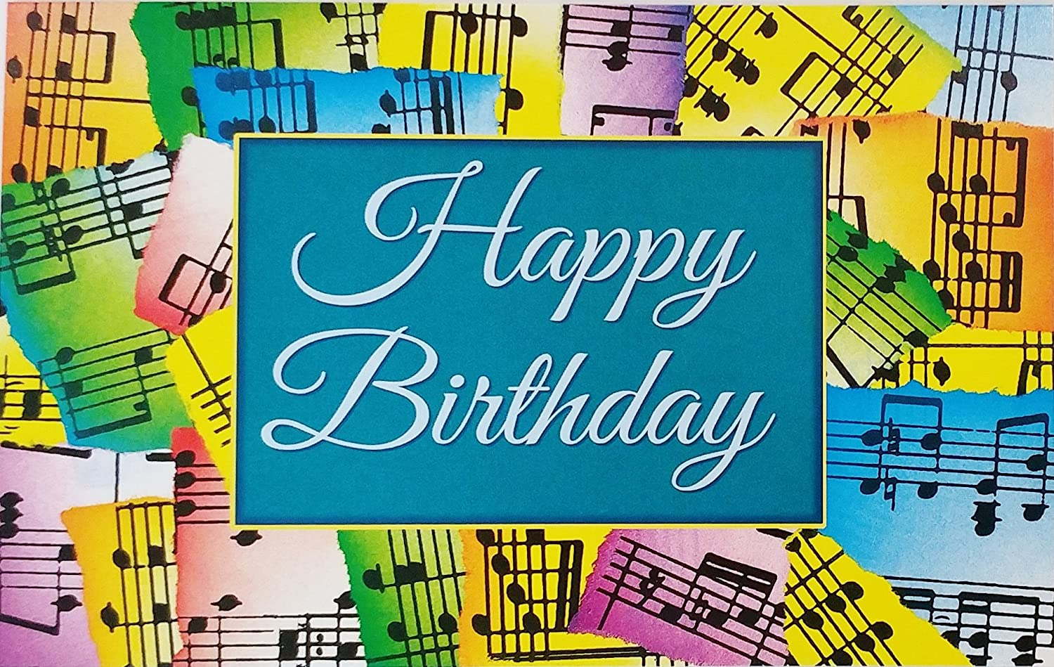 Sensational Amazon Com Happy Birthday Musical Notes Greeting Card May Personalised Birthday Cards Cominlily Jamesorg