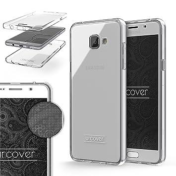 Urcover® Funda Compatible con Samsung Galaxy A3 (2016) Carcasa Protectora 360 Grados Silicona Gel en Semi-Transparente Full Body Protección Completa ...