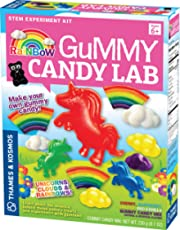 Thames & Kosmos Rainbow Gummy Candy Lab - Unicorns, Clouds & Rainbows! Sweet Science STEM Experiment Kit, Make Your Own Gummy Candies in Cool Shapes & Colors