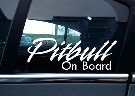 Autoaufkleber Pitbull On Board Auto