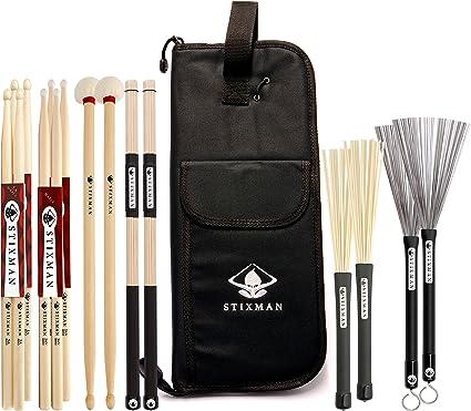 STIXMAN Ultra Pack – HD Negro acolchado Bolsa de baqueta ...