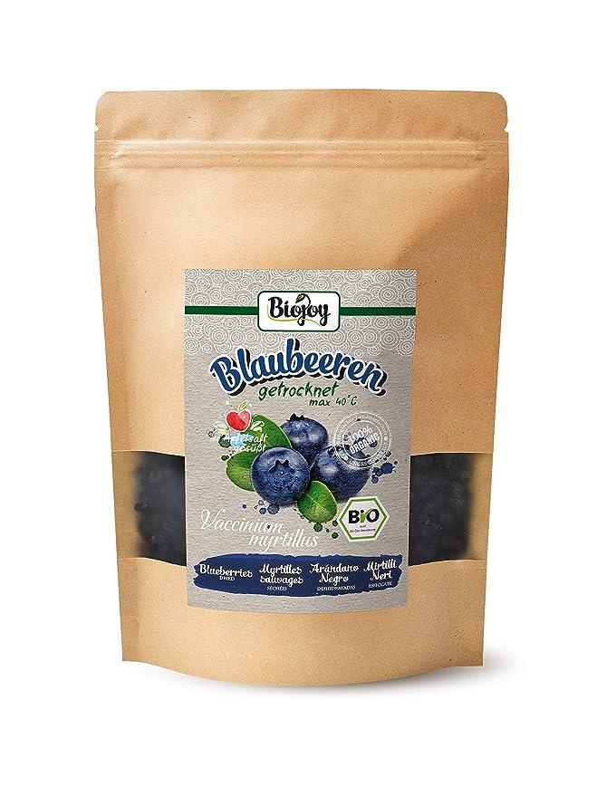 Biojoy Arándanos azules BIO, deshidratados, endulzados con un toque de zumo concentrado de manzana orgánico (0,5kg)