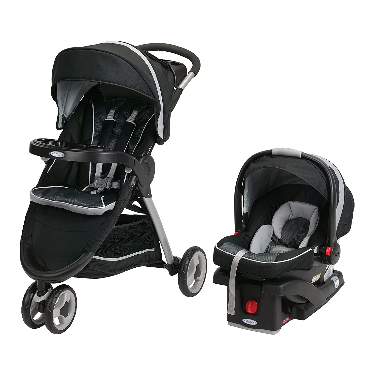 Graco Fastaction Fold Sport Click Connect Travel System Stroller, Gotham, One Size 1934806