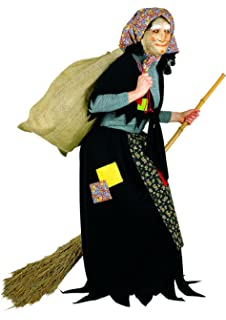 KIT Costume da BEFANA per adulti COMPLETO + SCOPA + SACCO + MASCHERA ... 023314030ac