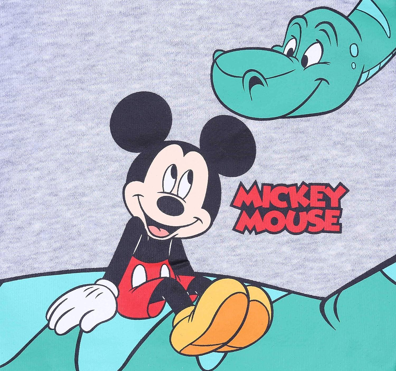 Felpa Grigia Verde Topolino Disney