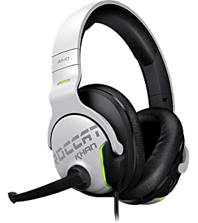 ROCCAT Khan Aimo - 7.1 High Resolution RGB Gaming Headset, White