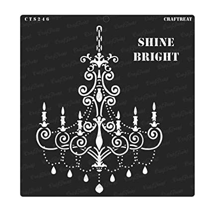 Crafting DIY Albums Reusable Painting Template for Journal Floor CrafTreat Stencil Shine Bright Wood 6x6 inches Scrapbook Wall Home Decor Fabric Decoration and Printing on Paper Tile