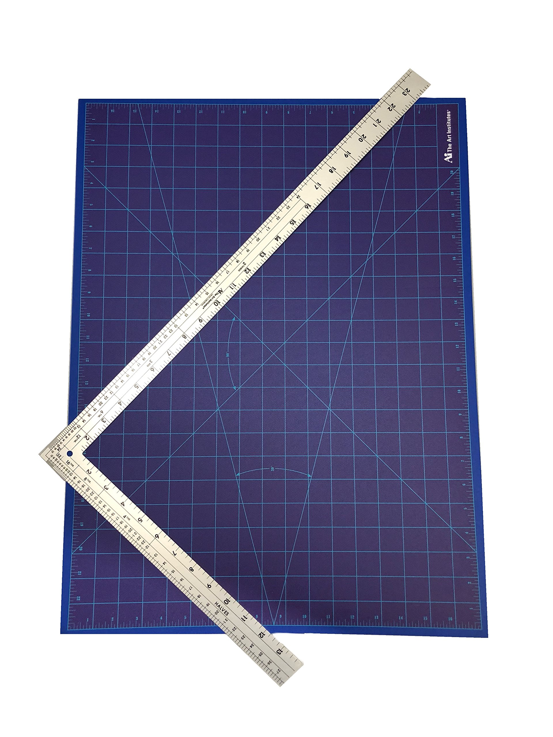 24 x 14 L-Square and 18 x 24 Cutting Mat by Art Institutes