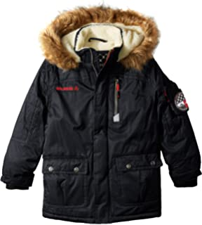 b29bab2340f Amazon.com: Big Chill Boys' Little Expedition Parka Coat, Smoked ...