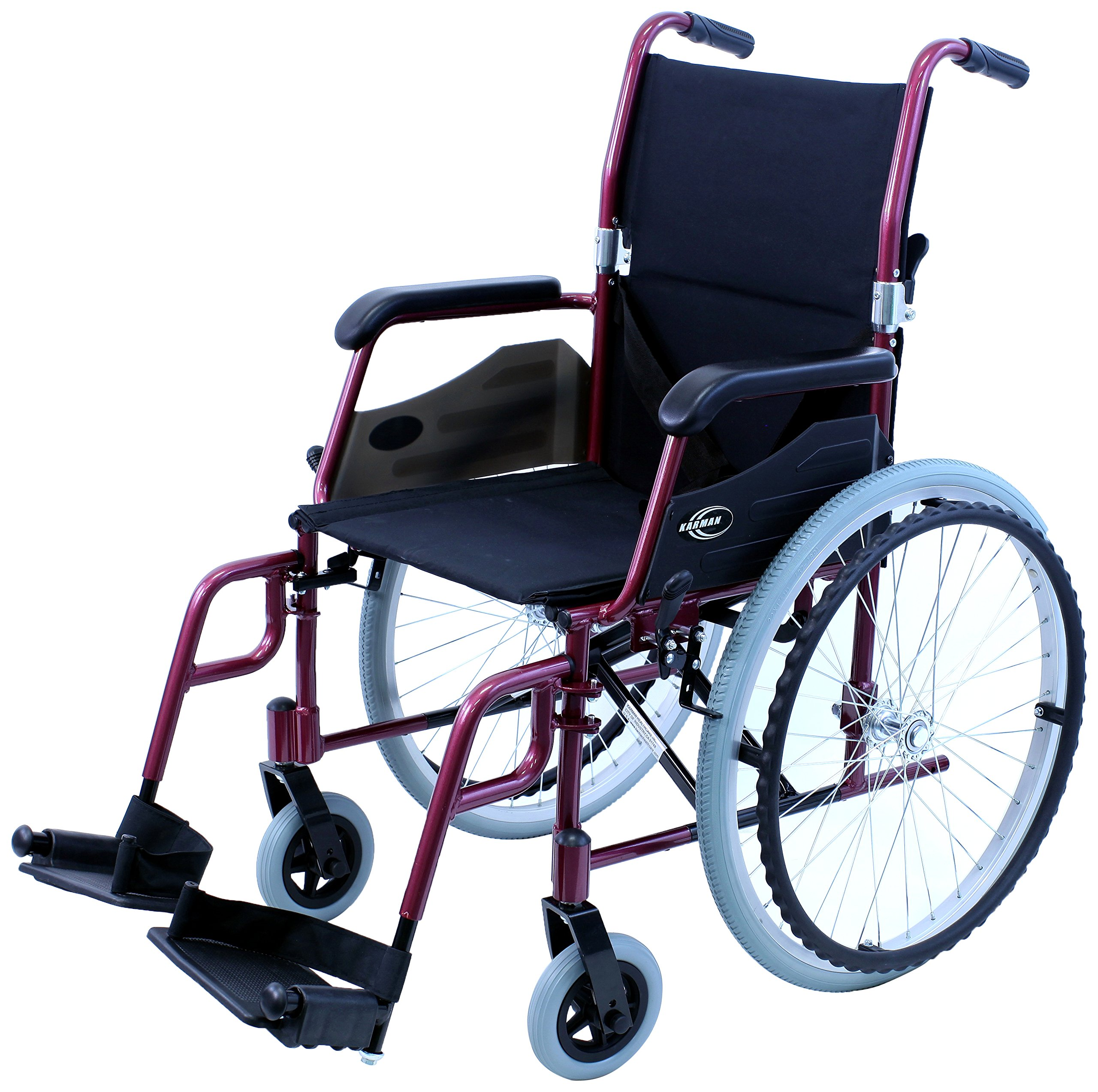 Karman LT-980-BD 24 Pound Ultra Lightweight Wheelchair, Burgundy by Karman