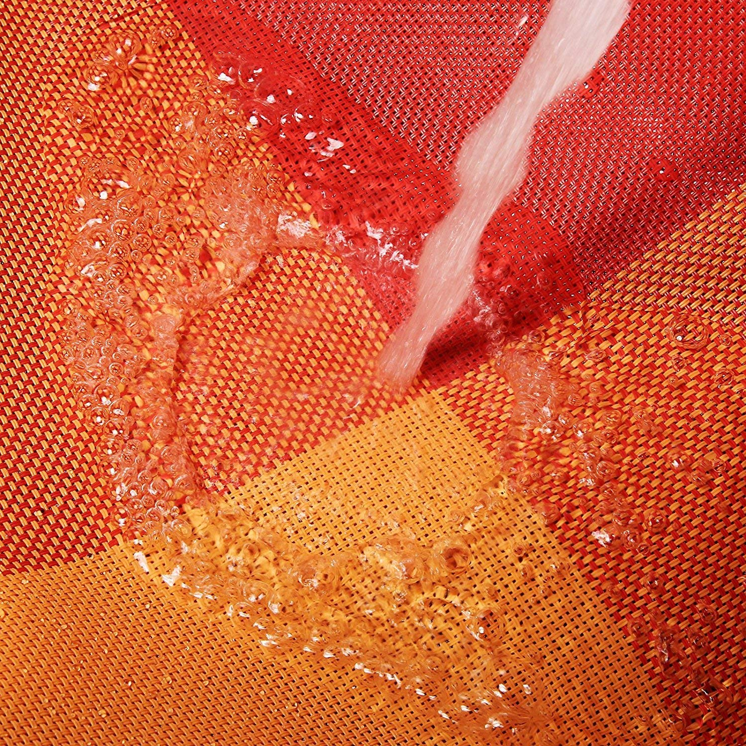 Orange by Pretty Decor Pretty Decor PVC Place Mats Non-slip Crossweave Woven Dining Table Mats for Home Daily Use and Restaurant Use Set of 4