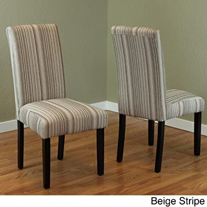 Monsoon Seville Stripe Fabric Dining Chairs (Set Of 2) Beige