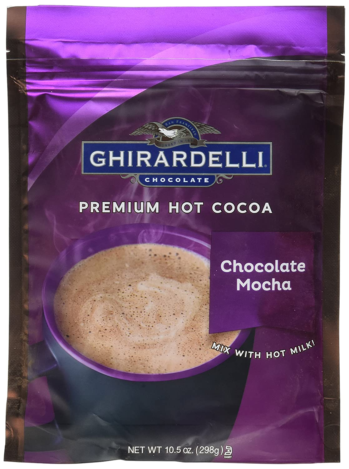 Ghirardelli Hot Cocoa Mix Mocha 10.5 oz bag pack 6