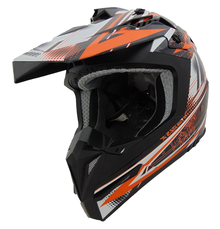 Stealth Flyte Off-Road Helmet with Blitz Graphics Orange, X-Large