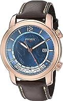 Fossil FSW7006 Swiss FS-5 Series GMT Three-Hand Date Watch - Brown