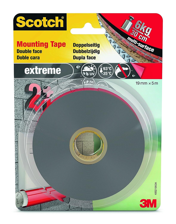 Scotch Extreme 4001950B Nastro Biadesivo in VHB Gris