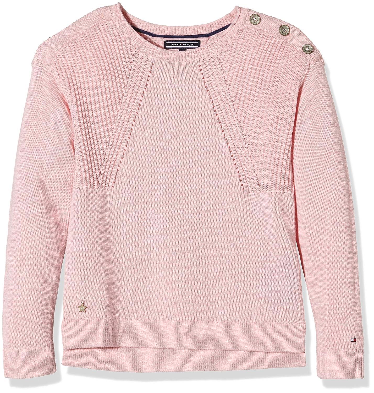 Tommy Hilfiger Mädchen Pullover Girls Cn Sweater L/s