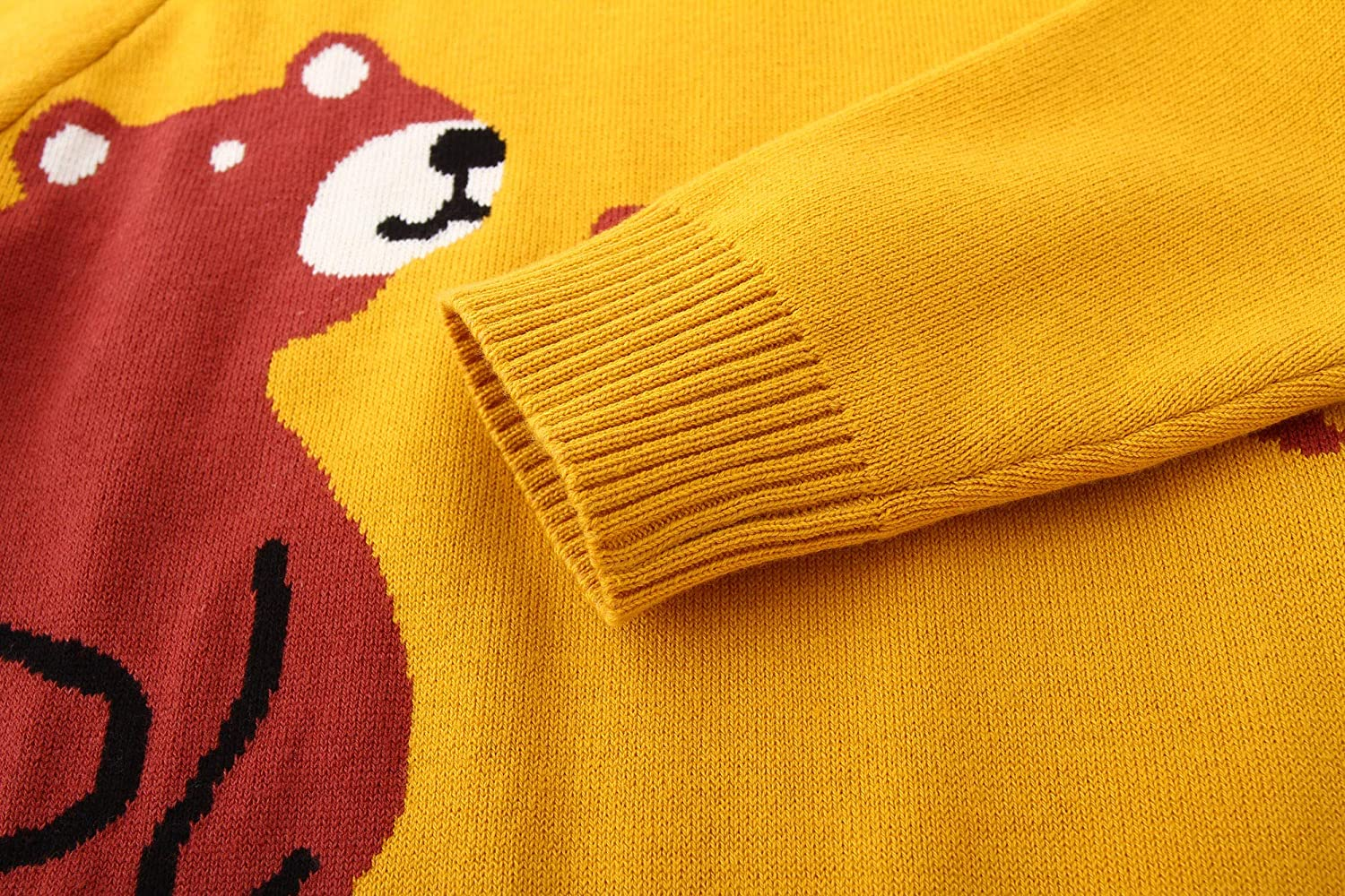 HUAER/& Baby Boys Girls Knit Sweater Unisex Cotton Cartoon Animal Pullover Sweatshirt