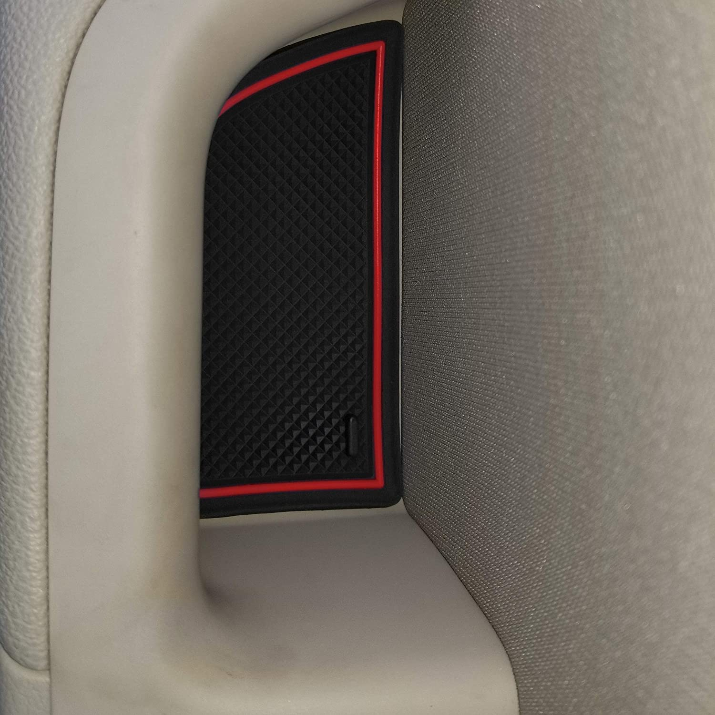 Console and Door Pocket Inserts 18-pc Set Premium Cup Holder CupHolderHero for Hyundai Elantra 2017-2018 Custom Liner Accessories Solid Black