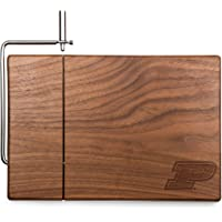 NCAA Purdue Boilermakers Meridian Black Walnut Cutting Board with Cheese Slicer