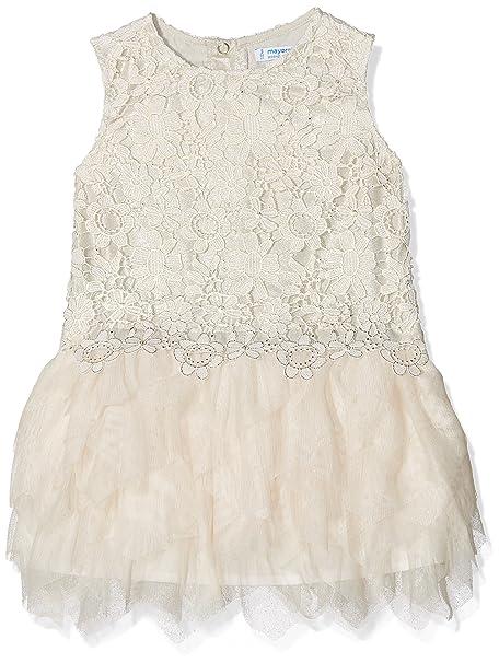 Mayoral 3920, Vestido para Niñas, Marfil (Champan), 6 años