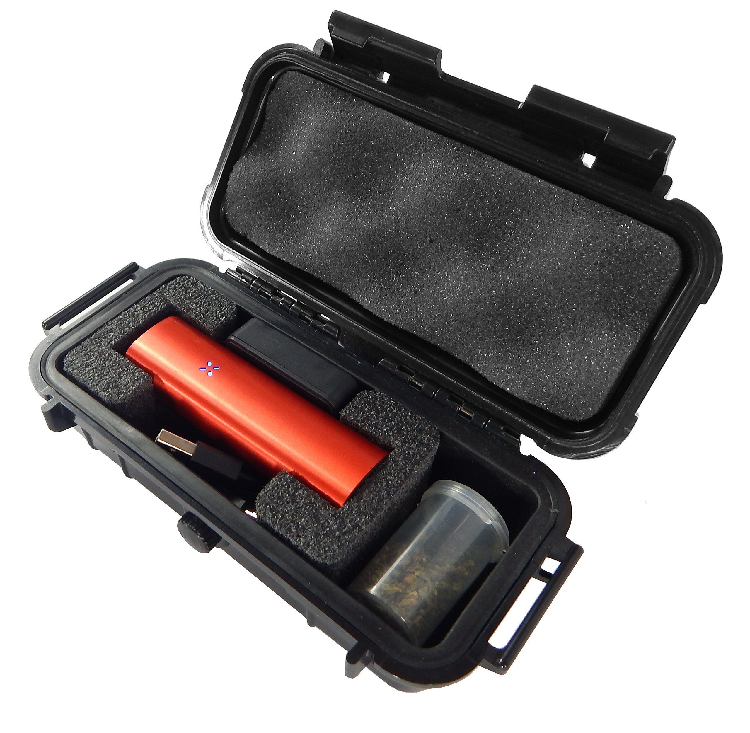 CLOUD/TEN Pax 2 and Pax 3 Custom Case - Smell Proof Odor Resistant Protective Airtight Carry Box - Foam Specially Designed to Hold Pax 2 , Charger and Container Slot - Comes with Free Herb Canister