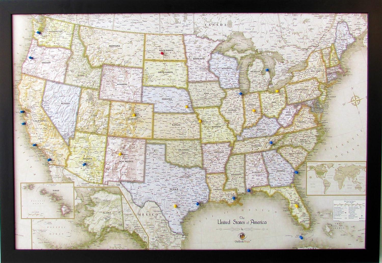 Homemagnetics HM3322USAM Magnetic USA Map, 33 X 22