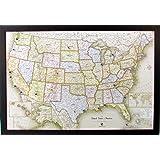 "Homemagnetics Magnetic USA Map, 33 x 22"""