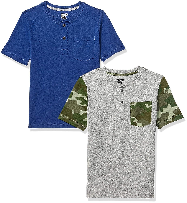 Brand Spotted Zebra Boys Toddler /& Kids 2-Pack Short-Sleeve Henley Shirts