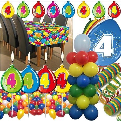 63 Juego de Juego para decoración de los * 4. Cumpleaños ...