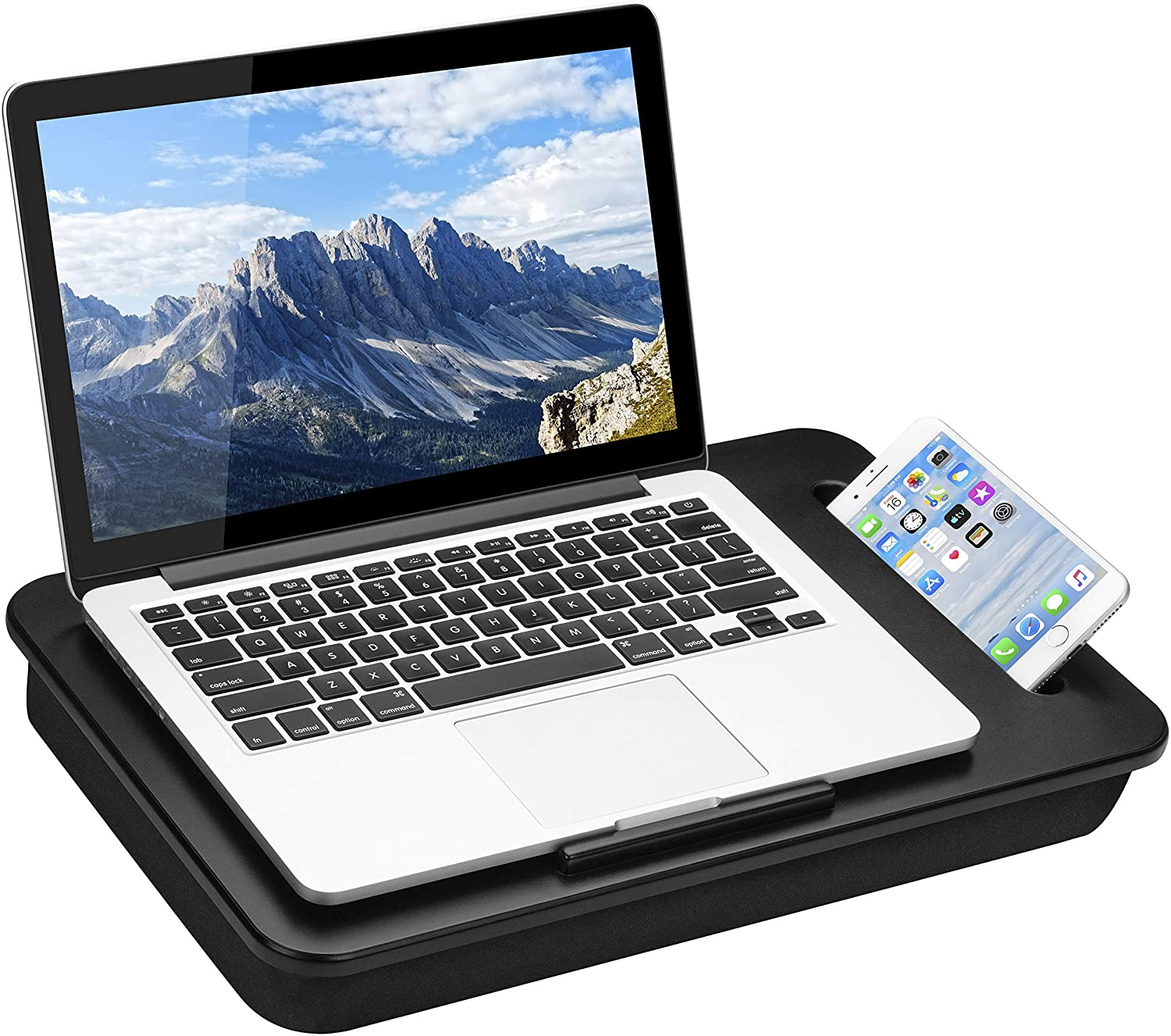 LapGear Sidekick Lap Desk - Black - Fits Up to 15.6 Inch Laptops - Style No. 44218