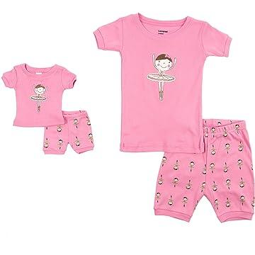 Leveret Shorts Kids   Toddler Pajamas Matching Doll   Girls Pajamas 100%  Cotton Owl Pjs 9aa273582
